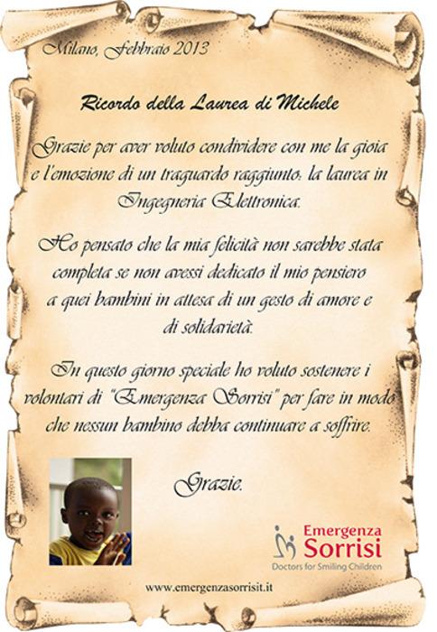 Fabuleux Emergenza Sorrisi - Bomboniere solidali onlus - LeMieNozze.it UI33
